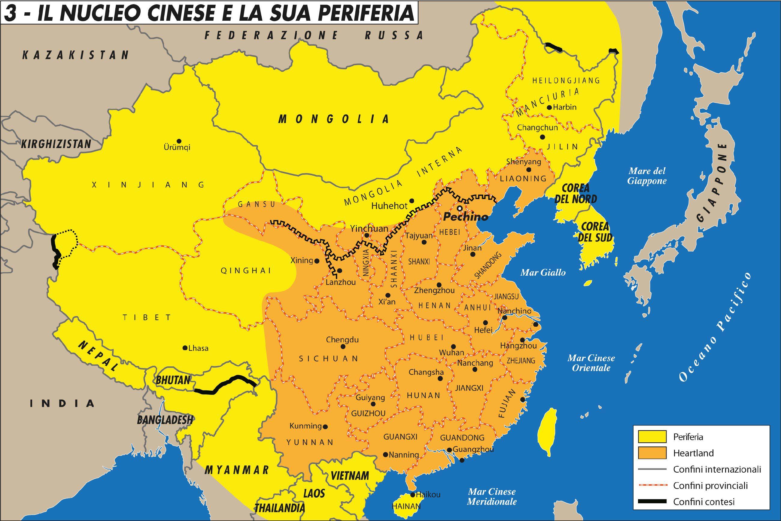 Cartina Cina Con Province.Cina