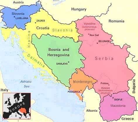 Cartina Jugoslavia.C Era Una Volta La Jugoslavia