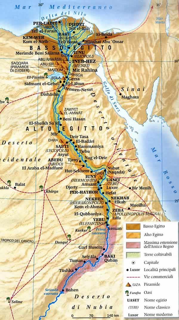 Cartina Del Egitto.Egitto