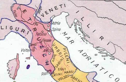 Cartina Dell Italia Al Tempo Degli Etruschi.Etruschi