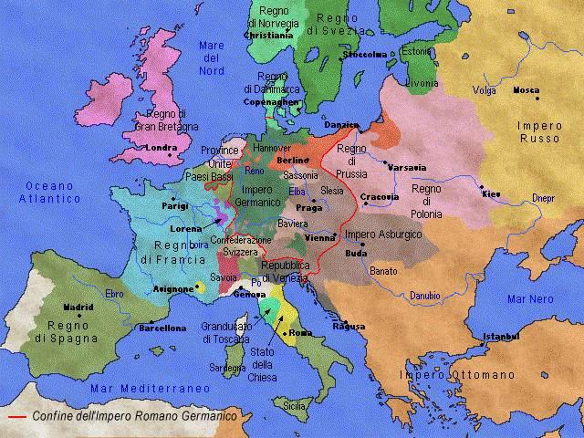Cartina Europa 1800.Relazione Personale Di Storia Moderna