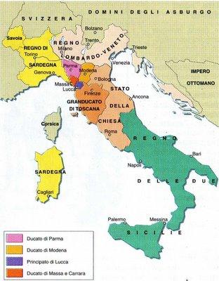 Cartina Dell Italia Nel 1815.Risorgimento Italiano