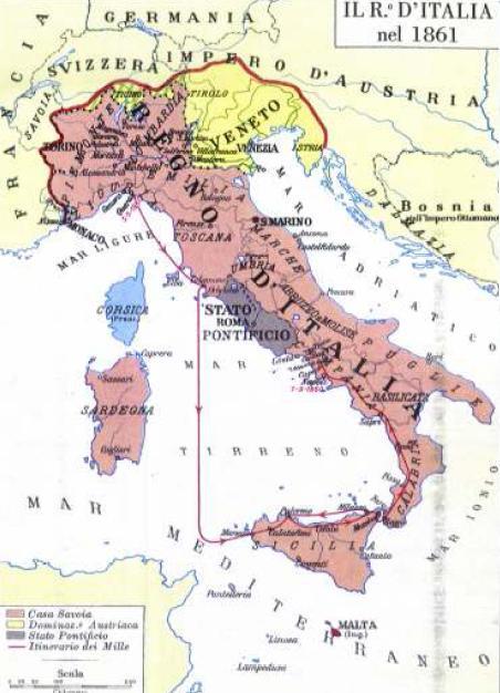 Cartina Dell Italia 1815.Risorgimento Italiano